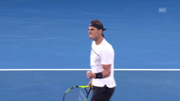 Video «Live-Highlights Nadal - Monfils» abspielen