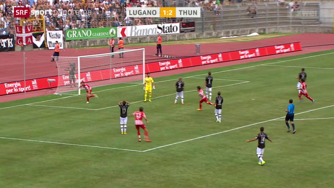 Fussball: Super League, Lugano - Thun
