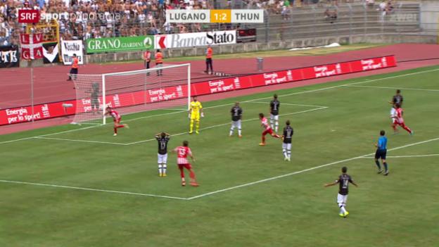 Video «Fussball: Super League, Lugano - Thun» abspielen