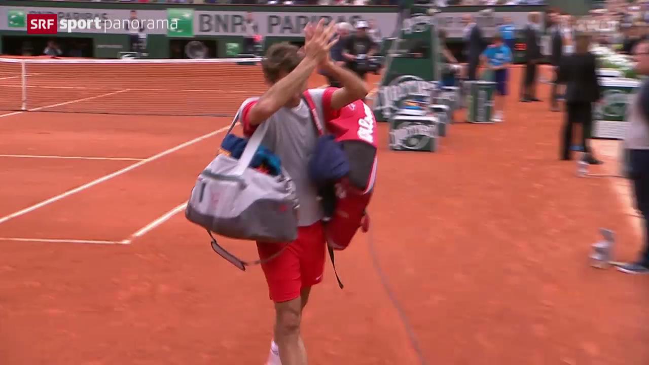 Tennis: French Open in Paris, Federer - Gulbis