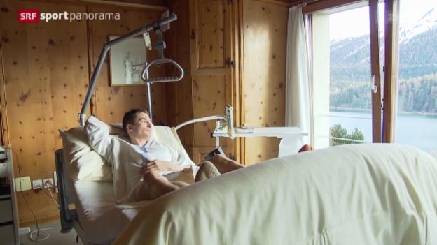 Video «Snowboard: Iouri Podladtchikov nach seinem Unfall» abspielen