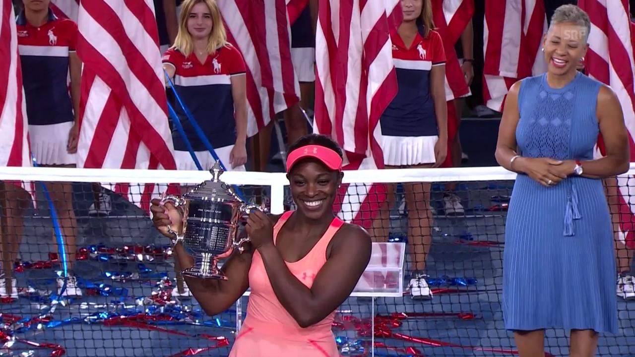 Sloane Stephens setzt sich die US-Open-Krone auf