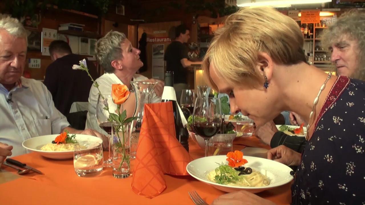 «Mini Beiz, dini Beiz»: Besoffene Spaghetti im Wallis