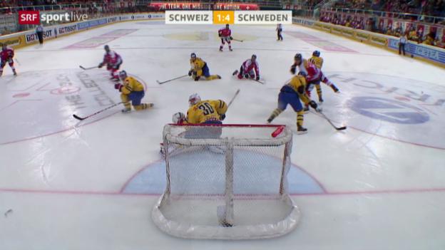Video «Eishockey: Testspiel, Schweiz - Schweden» abspielen