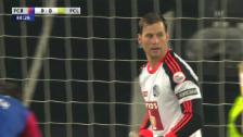 Video «Fussball: Cup-Halbfinal, Basel - Luzern, David Zibung mit mirakulöser Parade gegen Fabian Frei («sportlive»)» abspielen