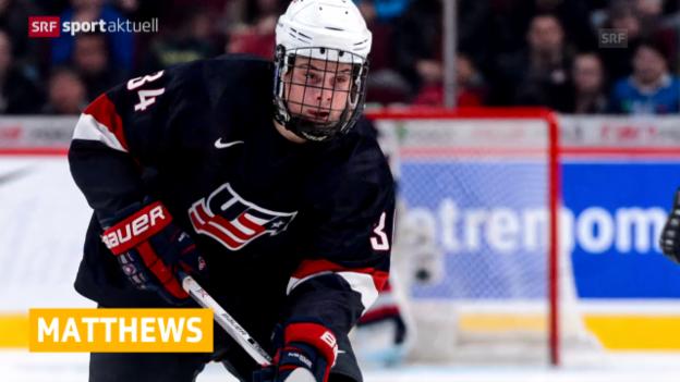Video «Eishockey: Auston Matthews wechselt zu den ZSC Lions («sportaktuell»)» abspielen