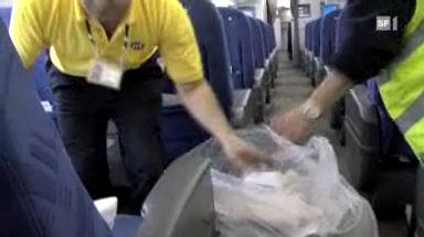 Stress für Flugzeugputzer