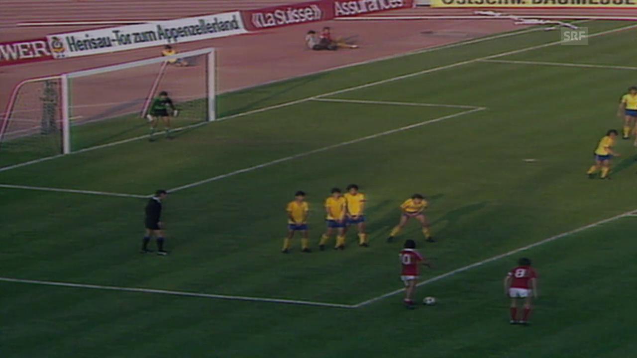 Fussball: WM-Quali 1982, Rumänien - Schweiz 1:2