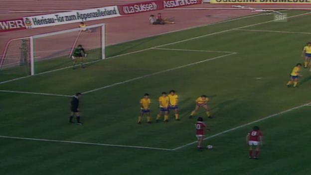 Video «Fussball: WM-Quali 1982, Rumänien - Schweiz 1:2» abspielen