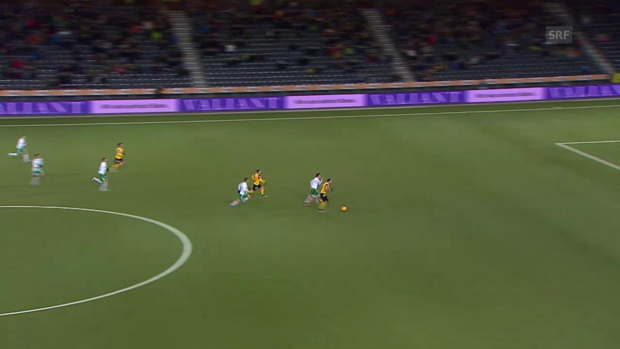Fussball: Super League, 17. Runde, YB - St. Gallen