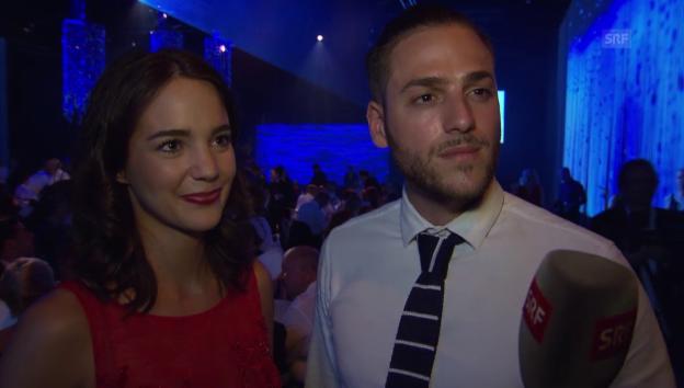 Video «Laetitia Guarino und Stefano Iodice im Liebes-Interview» abspielen