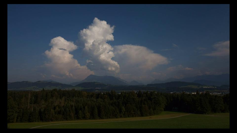 #SRFMeteoVideo von Franz Krummenacher mit Quellwolken über der Rigi