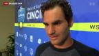 Video «Federer erneut in einem Formhoch» abspielen