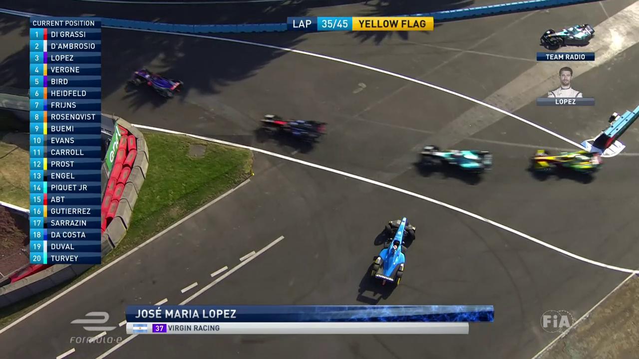 Formel E: Buemis Dreher, Di Grassis Sieg