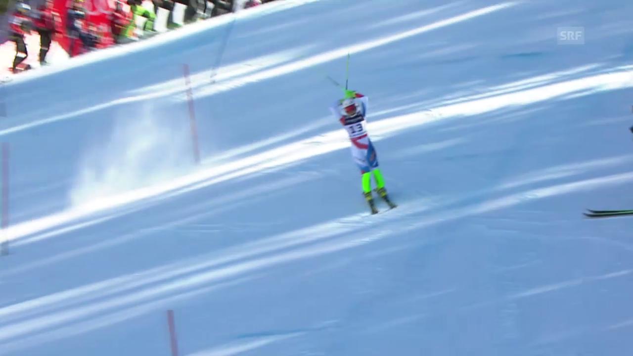 Ski alpin: WM 2015 in Vail/Beaver Creek: Super-Kombi Frauen, Slalom, Out Priska Nufer