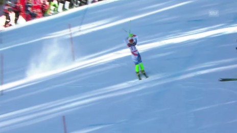 Video «Ski alpin: WM 2015 in Vail/Beaver Creek: Super-Kombi Frauen, Slalom, Out Priska Nufer» abspielen