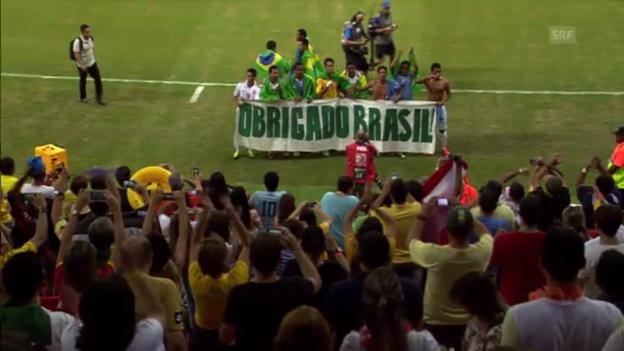 Video «Fussball: Tahiti verabschiedet sich am Confed Cup von den Fans» abspielen