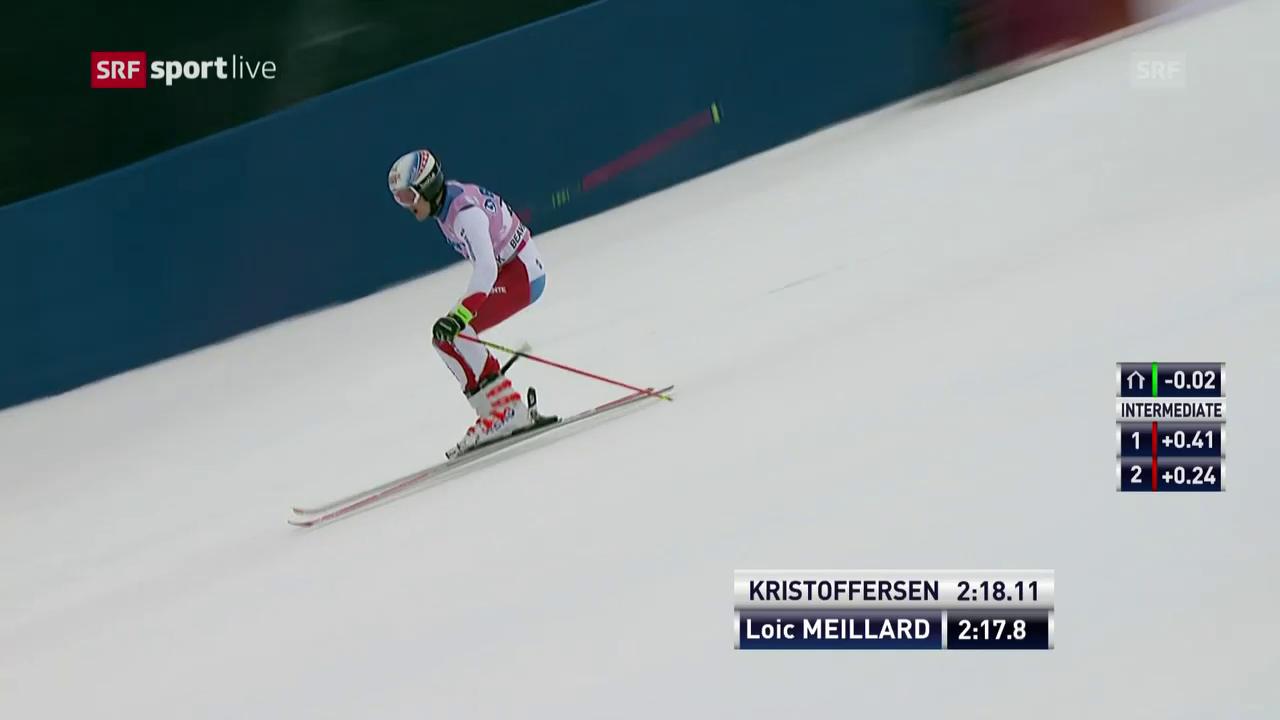 Der 2. Lauf von Loïc Meillard