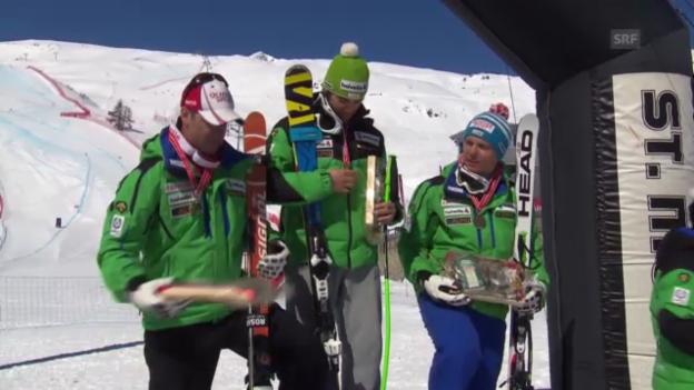 Video «Ski: Rennbericht SM-Super-G» abspielen