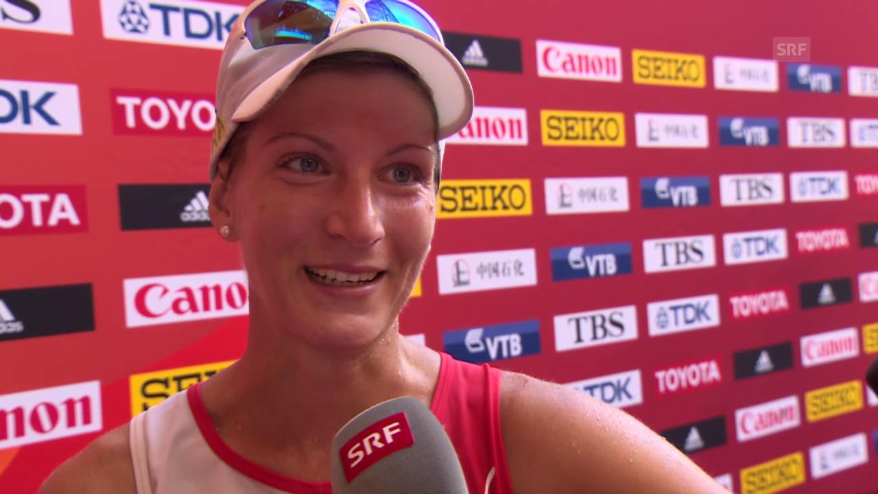 Leichtathletik: WM Peking 2015, 20 km Gehen, Interview mit Laura Polli