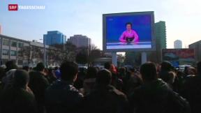Video «Nordkorea meldet erfolgreichen Test einer Wasserstoffbombe» abspielen
