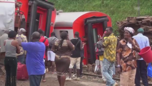 Video «Tragisches Zugunglück in Kamerun» abspielen