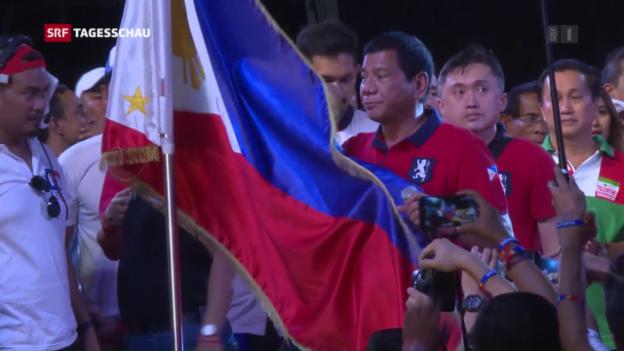 Video «Rodrigo Duterte neuer Präsident» abspielen