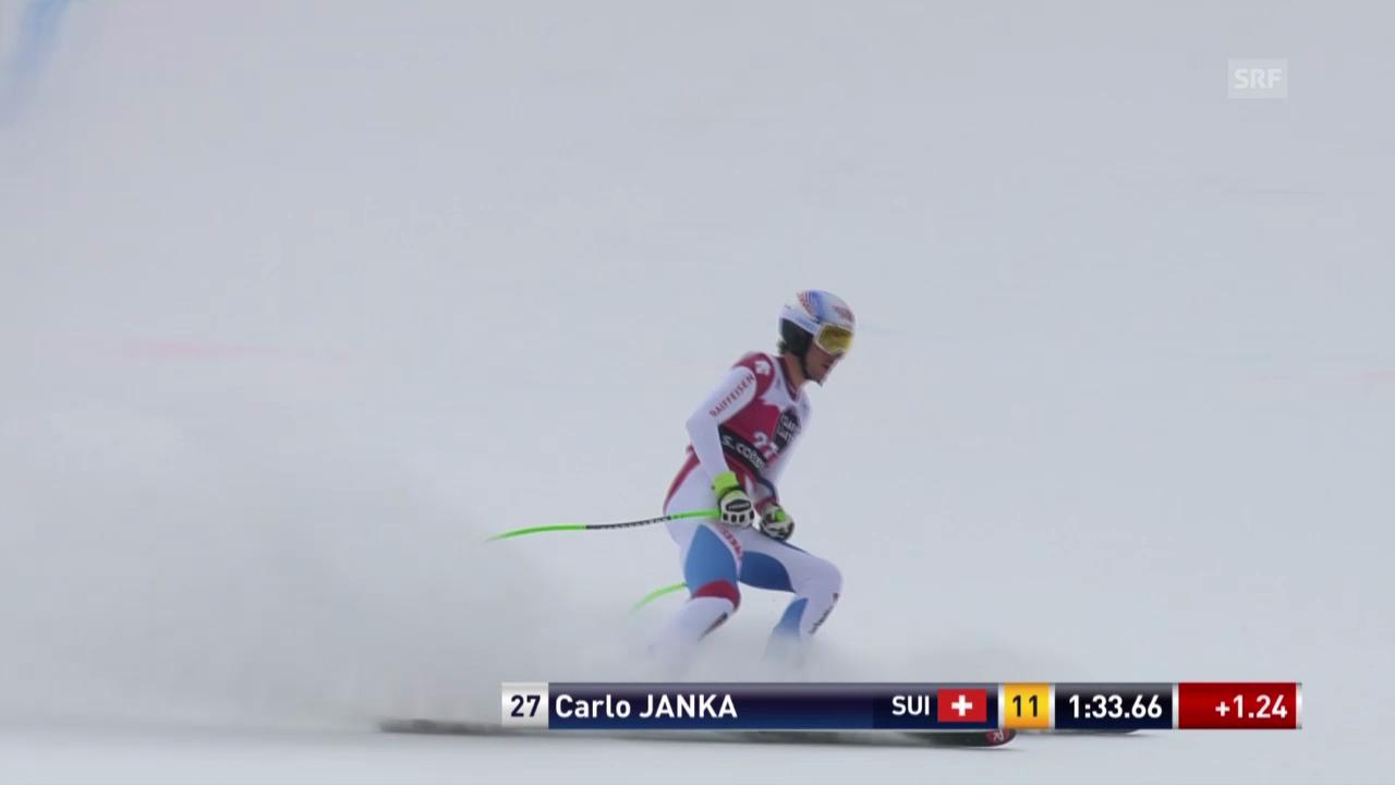 Ski: Abfahrt Männer Santa Caterina, Fahrt von Carlo Janka