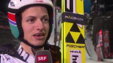 Video «Skispringen: Nordisch-WM Falun, Grossschanze, Interview mit GregorDeschwanden» abspielen