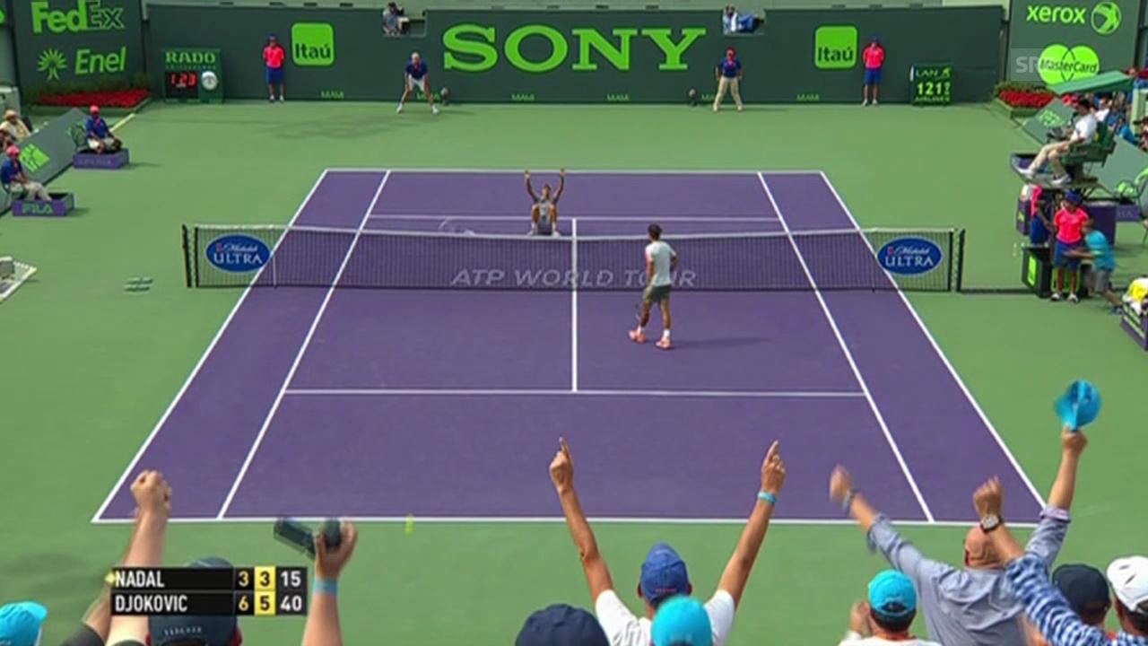 Tennis: Djokovics Matchball gegen Nadal im Miami-Final (Quelle: SNTV)