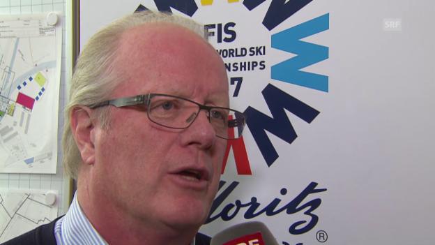 Video «Ok-Präsident Hugo Wetzel ein Jahr vor der Ski-WM in St. Moritz» abspielen