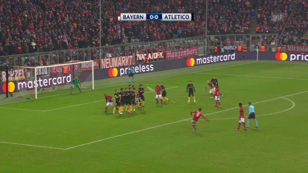 Lewandowskis Freistoss-Tor gegen Atletico