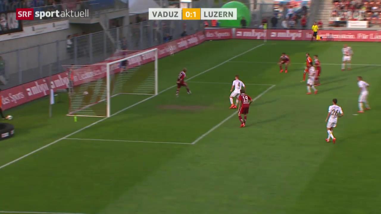 Fussball: Super League, Vaduz - Luzern