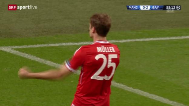 Video «Fussball: Manchester City - Bayern München» abspielen