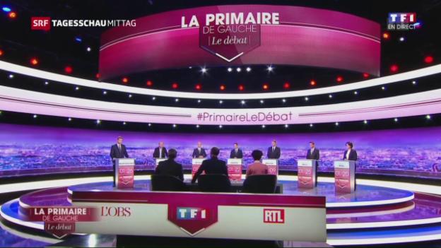 Video «Linke Anwärter auf den Élysée im TV-Clinch» abspielen
