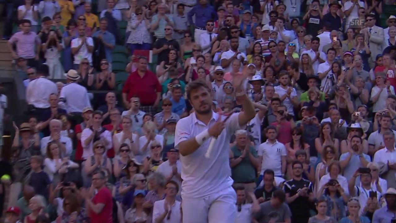 Tennis: Wimbledon, 1. Runde, Zusammenfassung Wawrinka - Sousa