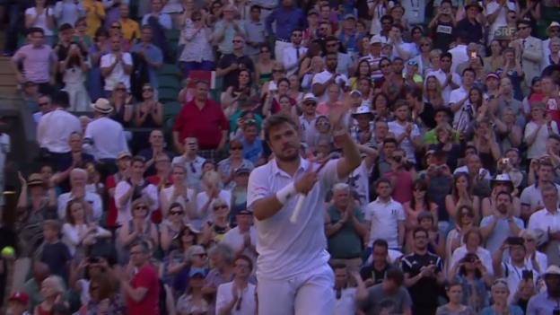 Video «Tennis: Wimbledon, 1. Runde, Zusammenfassung Wawrinka - Sousa» abspielen