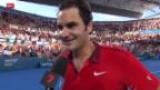 Video «Tennis: Federer-Dimitrov» abspielen