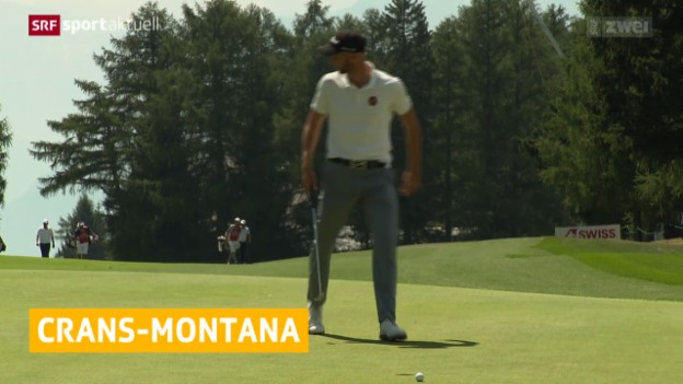 Video «Golf: European Masters in Crans-Montana, 2. Tag» abspielen
