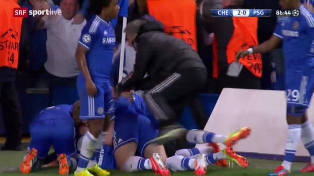 Video «Fussball: Champions League, Viertelfinal-Rückspiel Chelsea - Paris St-Germain, entscheidende Szenen» abspielen
