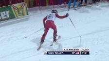 Link öffnet eine Lightbox. Video Im Fall von Robby Kelly heisst Skifahren «den Berg hochkraxeln» abspielen