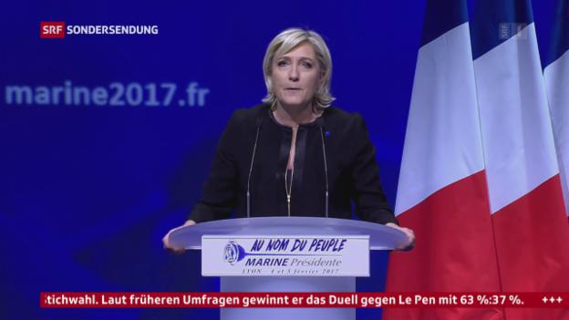 Video «Porträt Marine Le Pen» abspielen