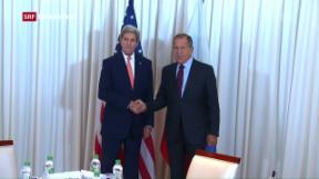 Video «Kerry und Lawrow bei Syrien-Treffen in Genf» abspielen