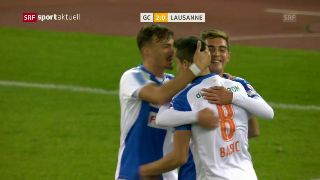 GC mit verdientem Sieg gegen Lausanne