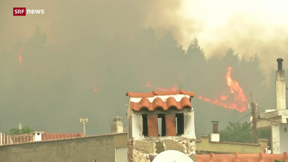 Griechenland: Waldbrände kommen Athen gefährlich nahe