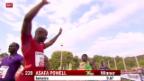 Video «Leichtathletik: Luzern, Asafa Powell» abspielen