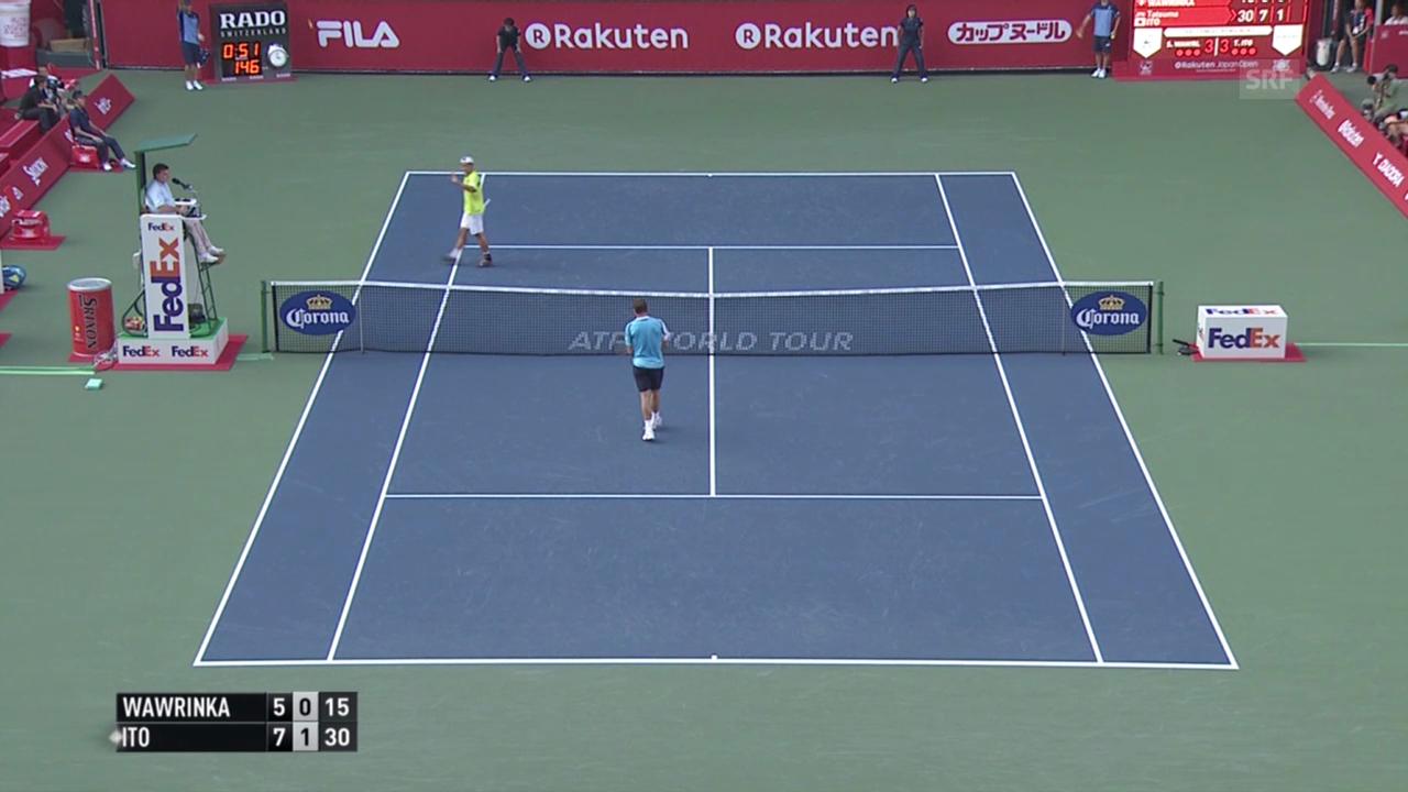 Tennis: ATP 500 Tokio, 1.Runde, Wawrinka - Ito