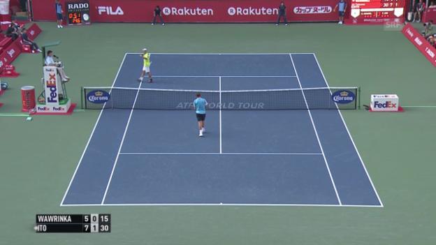 Video «Tennis: ATP 500 Tokio, 1.Runde, Wawrinka - Ito» abspielen