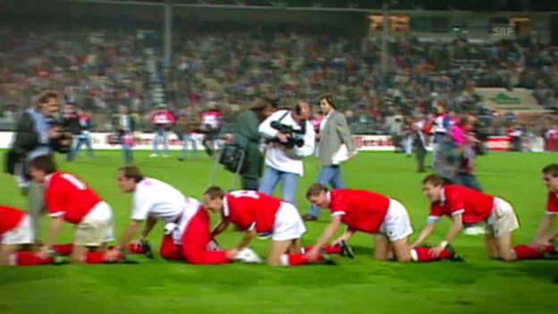 Video «Fussball: EM-Quali 1996, Schweiz-Ungarn» abspielen