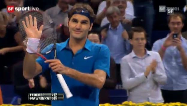 Video «Basel 2011: Federer - Wawrinka» abspielen